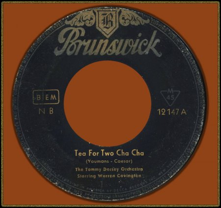 TOMMY DORSEY FEAT. WARREN COVINGTON - TEA FOR TWO CHA CHA_IC#005.jpg
