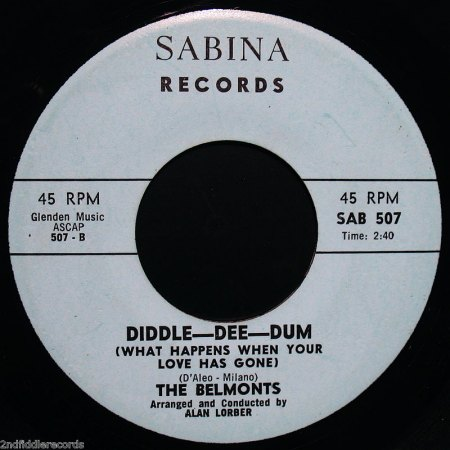 THE BELMONTS - Diddle-Dee-Dum -B-.jpg
