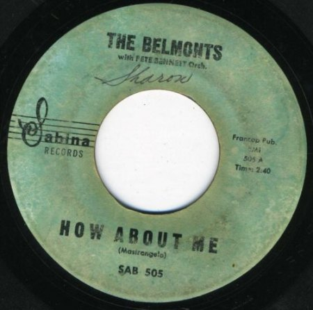 BELMONTS - How about me -B1-.jpg