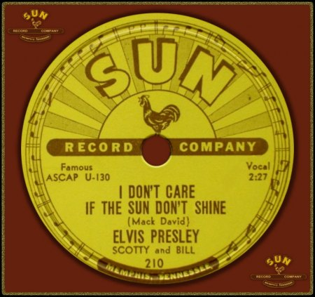 ELVIS PRESLEY - I DON'T CARE IF THE SUN DON'T SHINE_IC#002.jpg