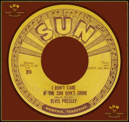 ELVIS PRESLEY - I DON'T CARE IF THE SUN DON'T SHINE_IC#004.jpg